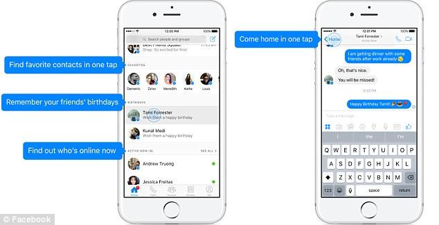 Ứng dụng chat Messenger của Facebook