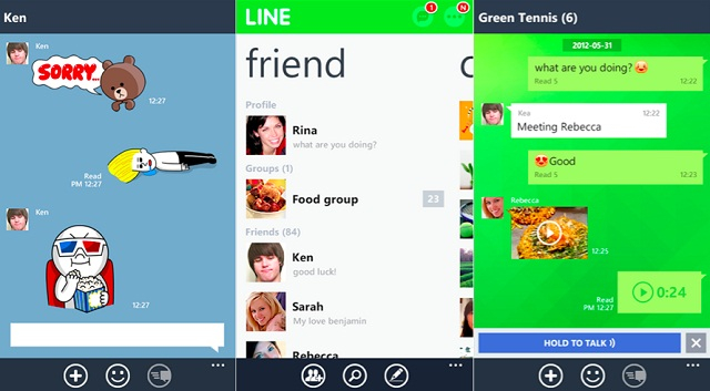 Ứng dụng chat LINE