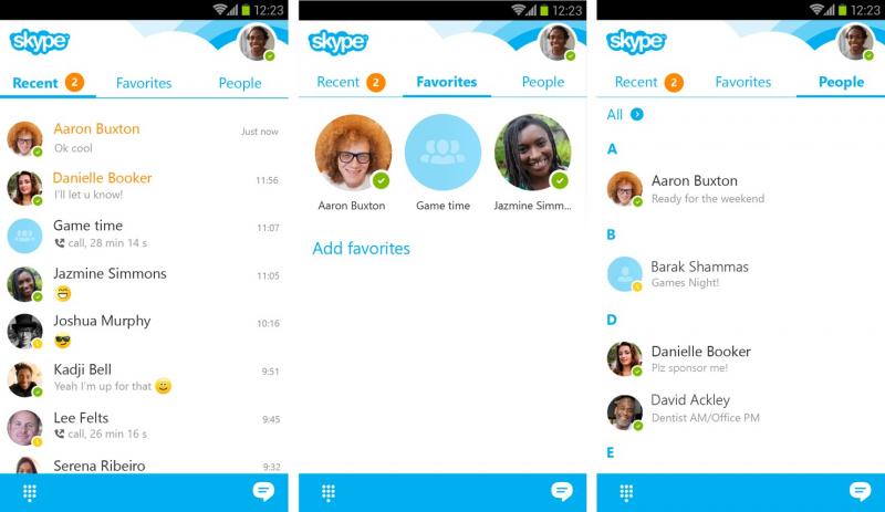 Ứng dụng chat Skype