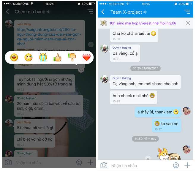 Ứng dụng chat Zalo