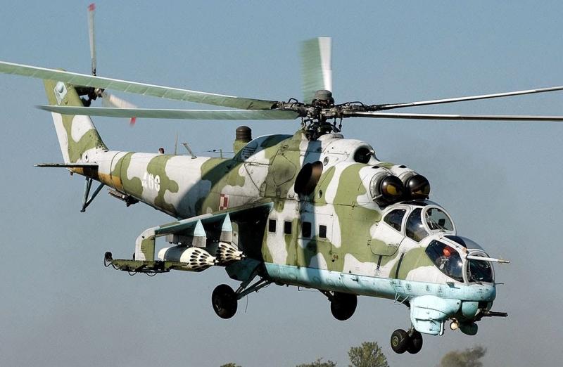 Trực thăng MI-24 Hind của không quân Nga.