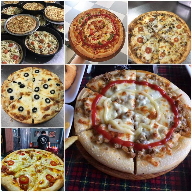 Pizza tại quán rất ngon và hấp dẫn
