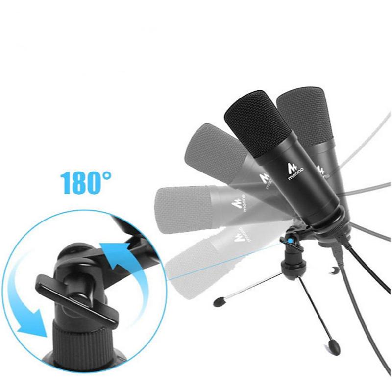 Micro thu âm USB MAONO AU-A04TR  có thể xay 180 độ