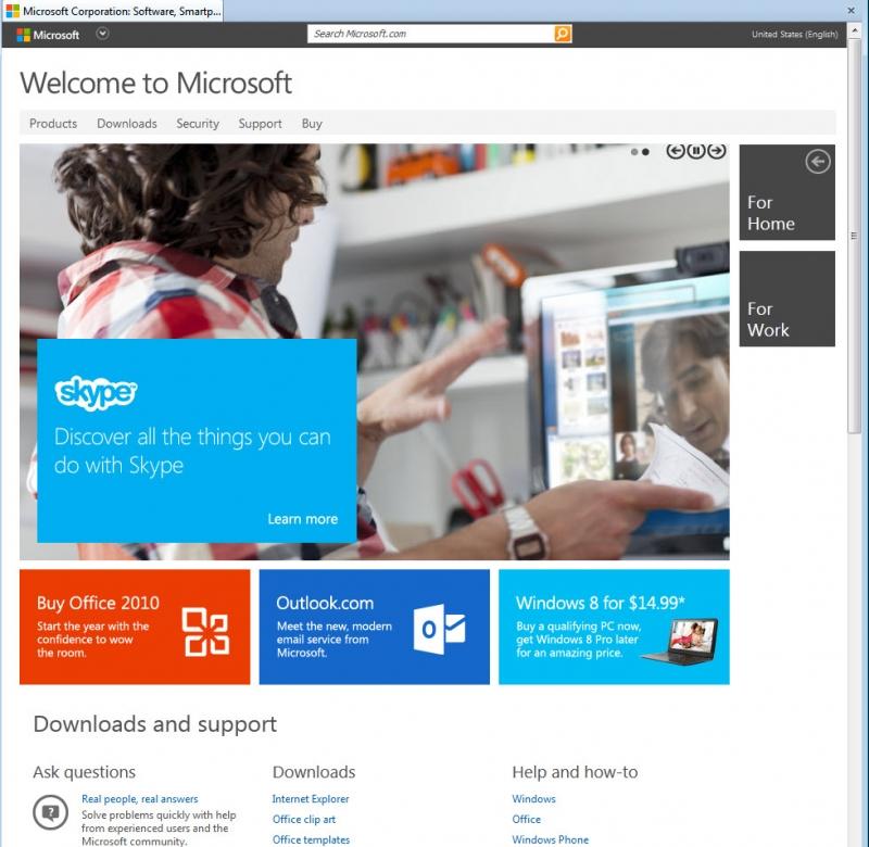 Microsoft.com là nơi người dùng có thể tải các phần mềm do Microsoft phát triển