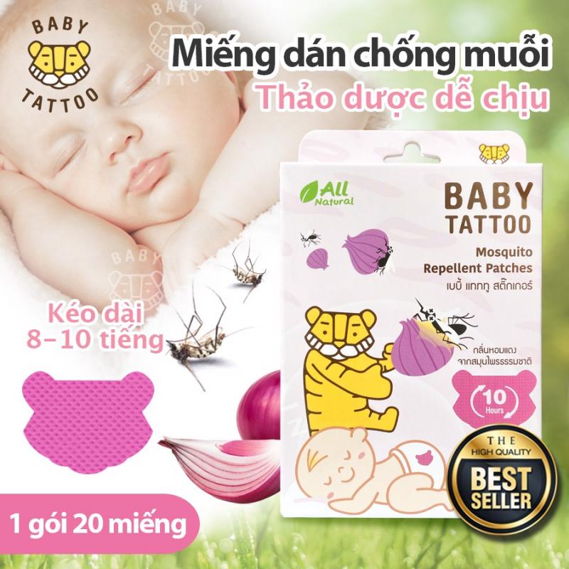 Miếng Dán Chống Muỗi Cho Bé Hương Thảo Dược Thái Lan Babby Tattoo