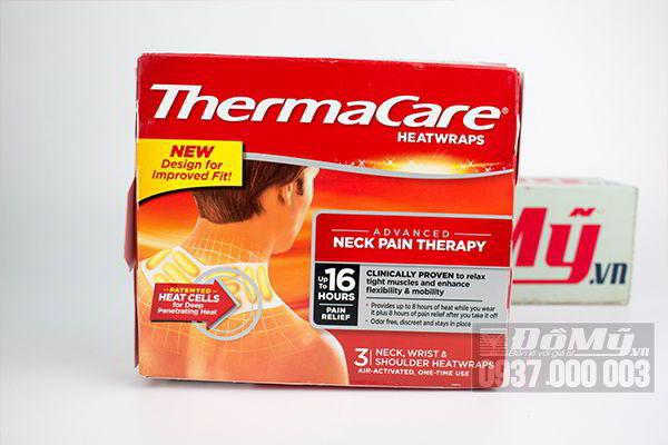 Miếng dán nhiệt giảm đau vùng thắt lưng và vai gáy Thermacare