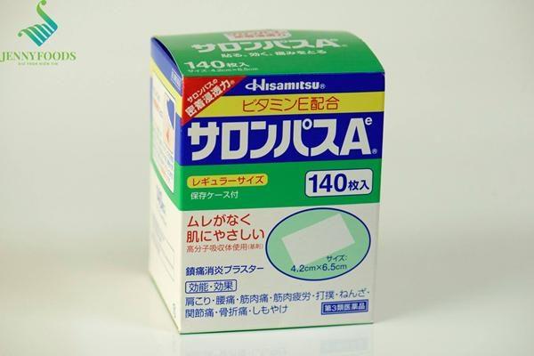 Miếng dán Salonpas giảm đau Nội địa Nhật Bản Salonpas 140 miếng