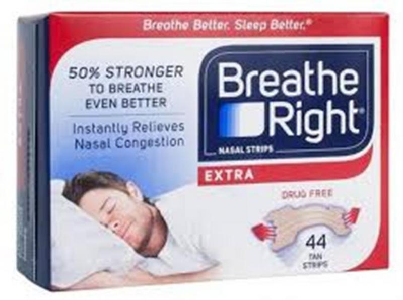Miếng Dán Thông Mũi Giảm Chứng Ngủ Ngáy Breathe Righ