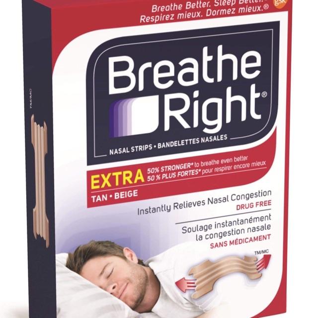 Miếng dán mũi Breathe Right giảm, loại bỏ chứng ngủ ngáy khiến bạn khó chịu, mất ngủ