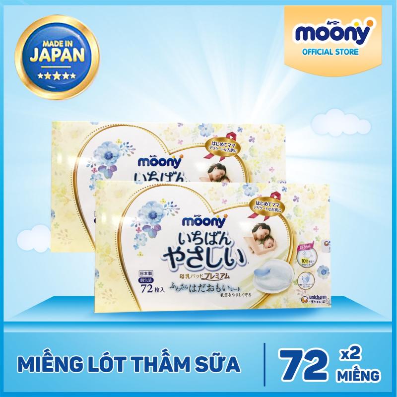 Miếng lót thấm sữa Moony 72 miếng
