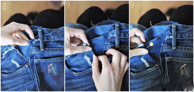 Miếng vải jean cùng màu