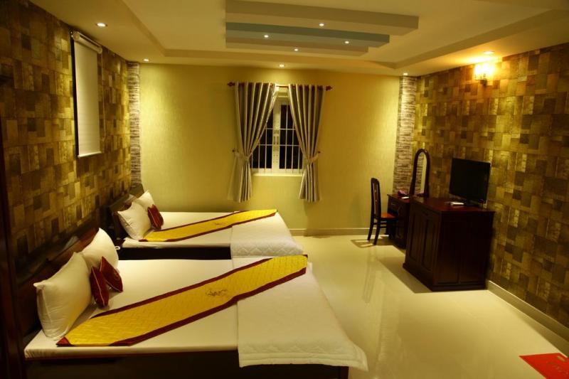 Phòng nghỉ có nội thất cao cấp cùng với hệ thống thiết bị hiện đại đạt tiêu chuẩn 2 sao cho bạn những phút giây thư giãn tuyệt vời.