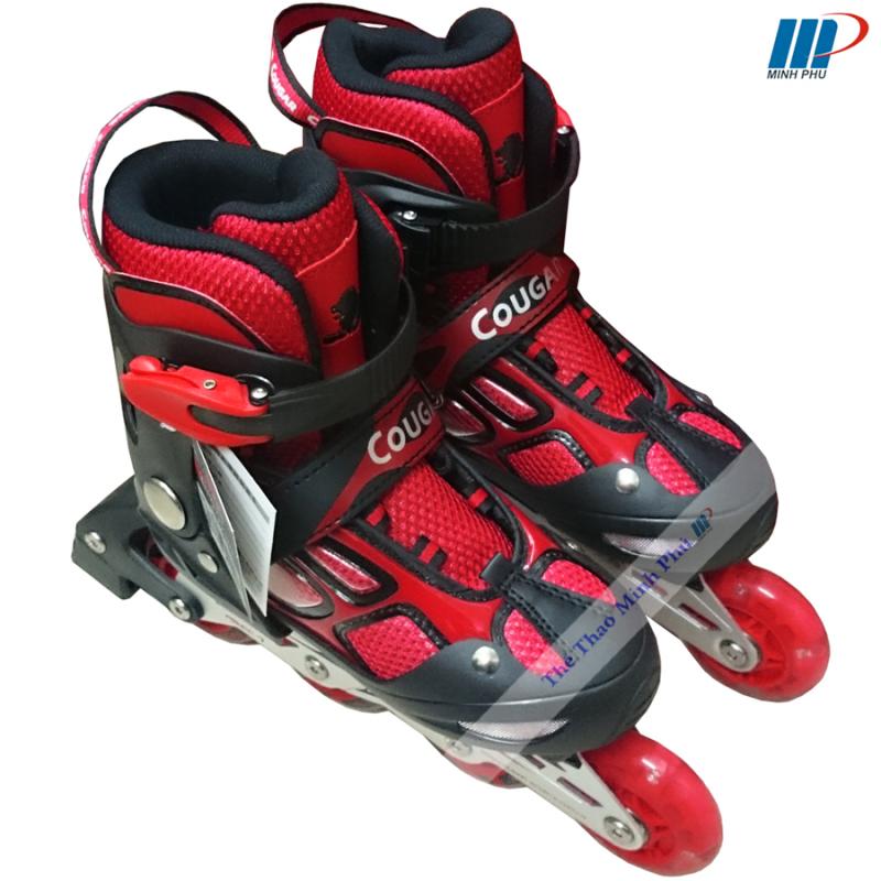 Giày trượt patin Cougar đỏ