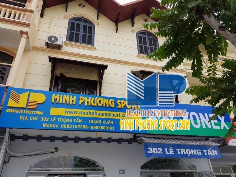 Cửa hàng Minh Phương Sport khá rộng rãi