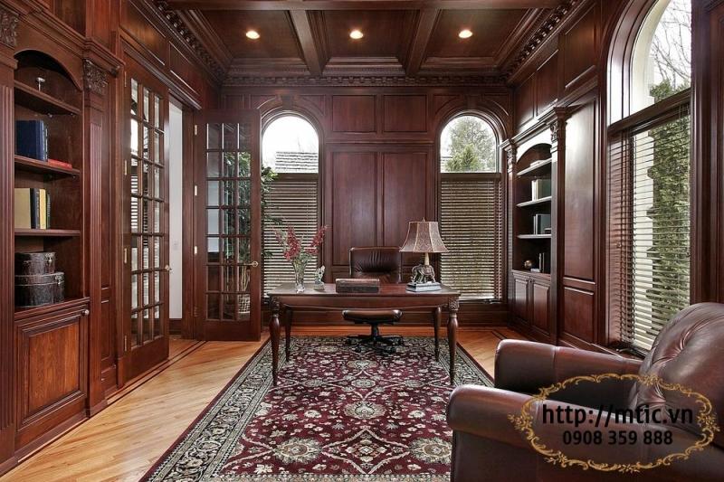Minh Tiến có nhiều thiết kế nội thất văn phòng từ gỗ vô cùng sang trọng.