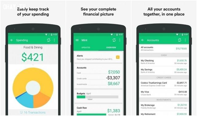 App quản lý chi tiêu cá nhân được nhiều người sử dụng
