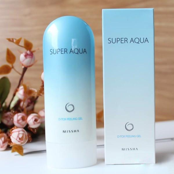 Gel Tẩy Tế Bào Chết Cho Mặt Missha Super Aqua D-Tox Peeling Gel