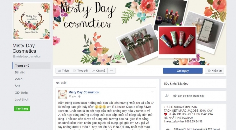 Shop Misty Day Cosmetics