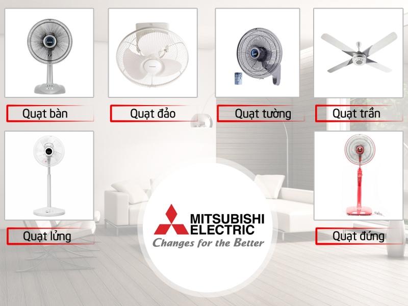 Các loại quạt của Mitsubishi