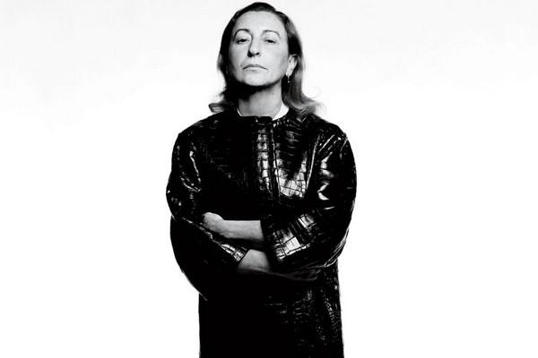 Italian fashion designer and businesswoman Miuccia Prada.