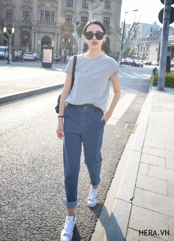 Boyfriend jeans cho cô nàng có cá tính mạnh