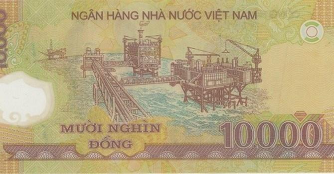 Mỏ dầu Bạch Hổ (tờ 10.000 đồng)
