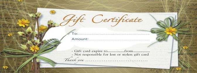 Thẻ quà tặng ở các spa uy tín là món quà ý nghĩa.