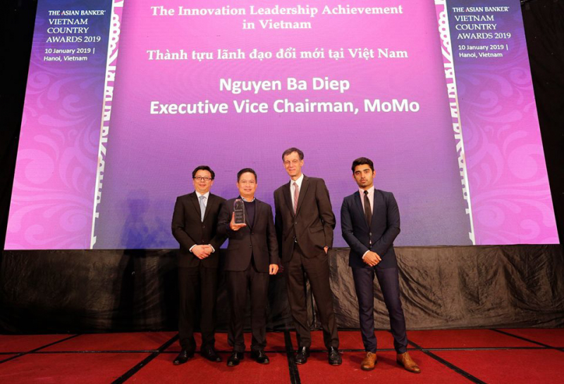 """MoMo được vinh danh kép tại giải thưởng quốc gia Việt Nam The Asian Banker 2019: """"Ví điện tử của năm"""" và """"Lãnh đạo đổi mới"""""""