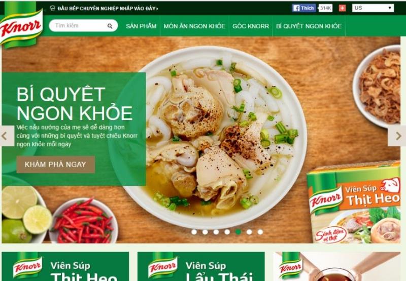 Đây là chuyên trang dạy những công thức nấu ăn sử dụng sản phẩm hạt nêm Knorr của công ty Unilever Việt Nam
