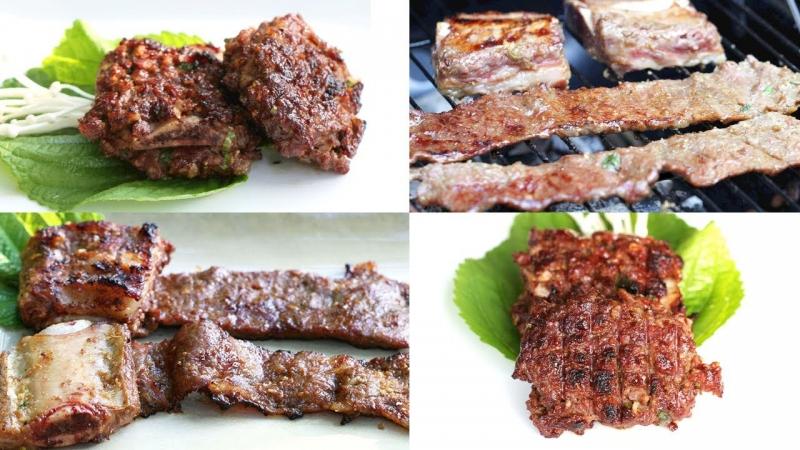 DDEOK GALBI (thịt, sườn nướng)