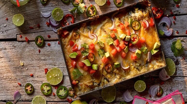 Món Enchiladas phô mai nướng