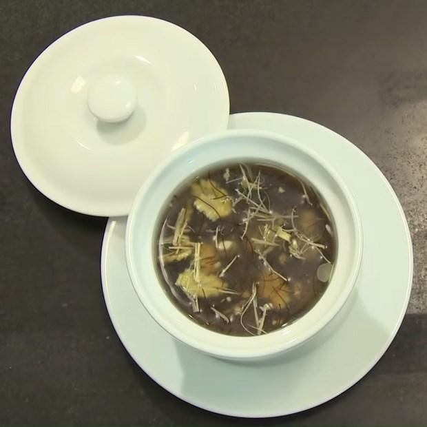 Món súp rong biển hải sản