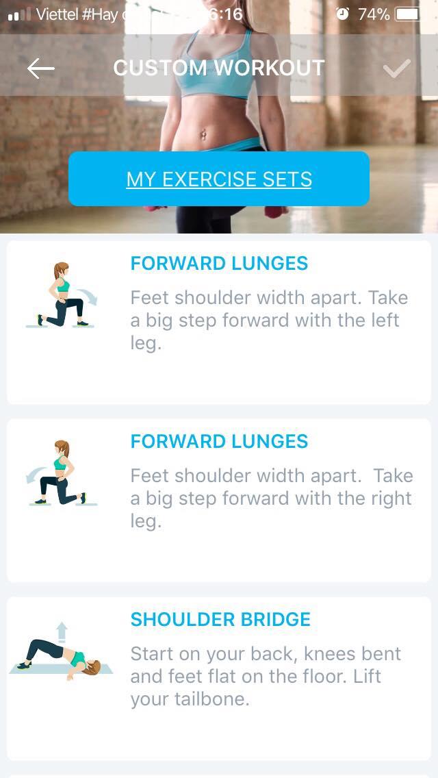 Mông và chân tập luyện