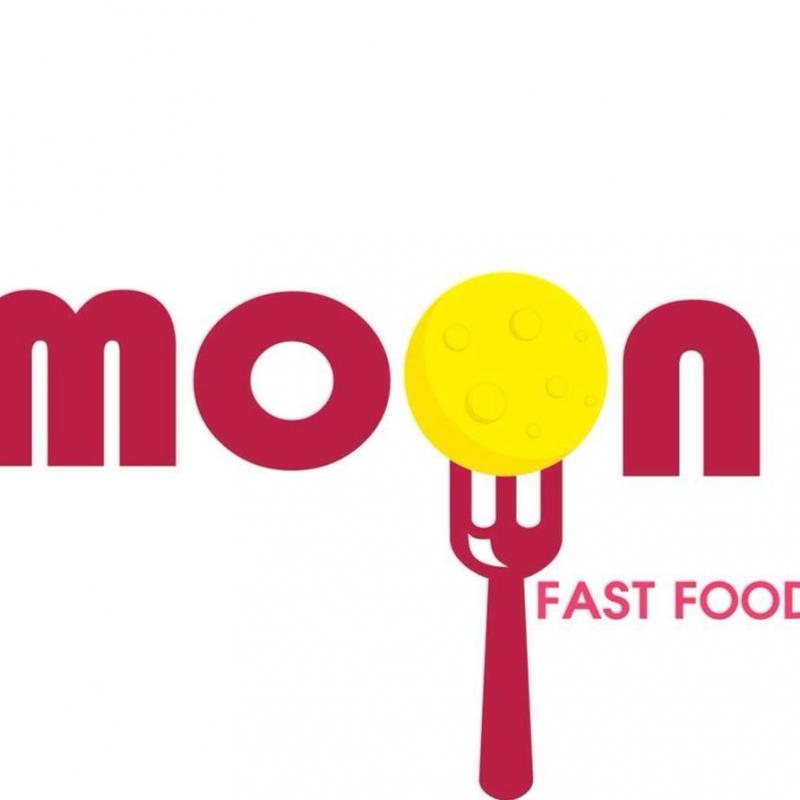 Logo đơn giản của Moon Fast Food