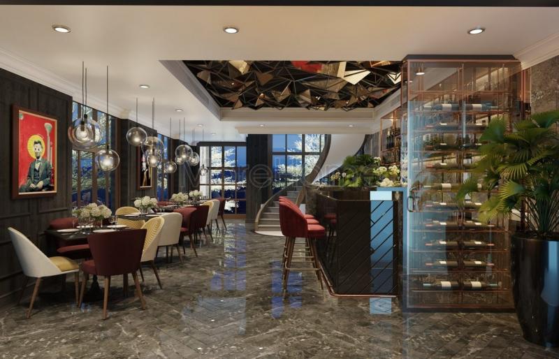 Thiết kế nội thất tầng 1 khách sạn