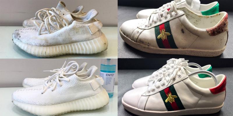 Vệ sinh giày trắng uy tín, hiệu quả tại Morino