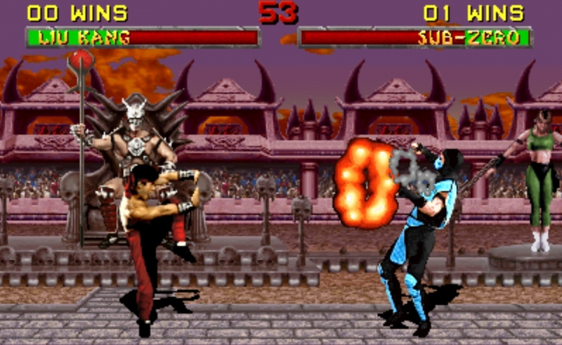 Giao diện Game Mortal Kombat