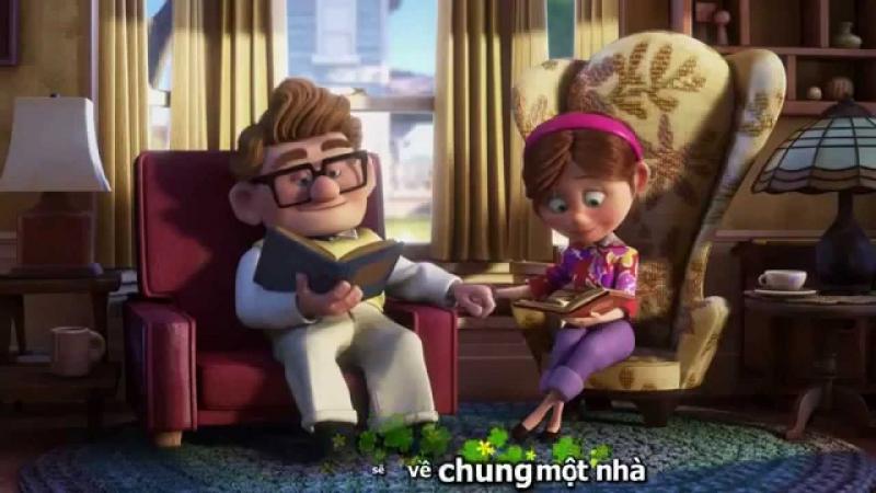 Câu chuyện tình yêu trong bộ phim hoạt hình UP như minh chứng cho lời bài hát