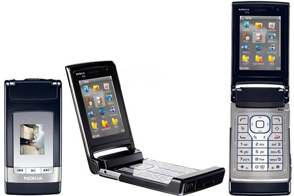 Nokia N76 cũng có phần sao chép lại thiết kế của RAZR V3