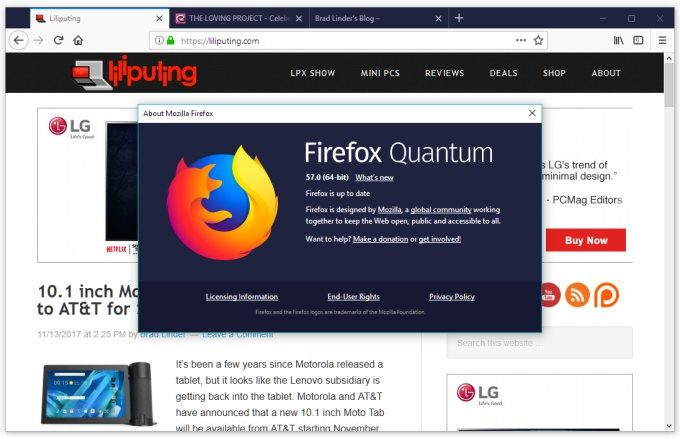 Giao diện mới của Firefox Quantum