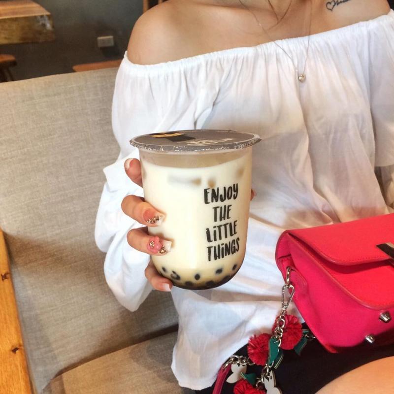 Sữa tươi trân châu đường đen Mr Good Tea