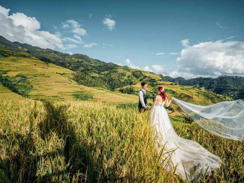 Chụp ảnh cưới ở Mù Cang Chải - Yên Bái