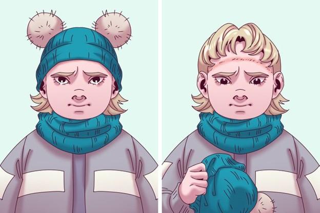 Hãy chọn kích cỡ mũ phù hợp với đầu trẻ nhé