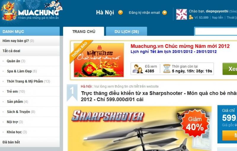 Website của Mua chung