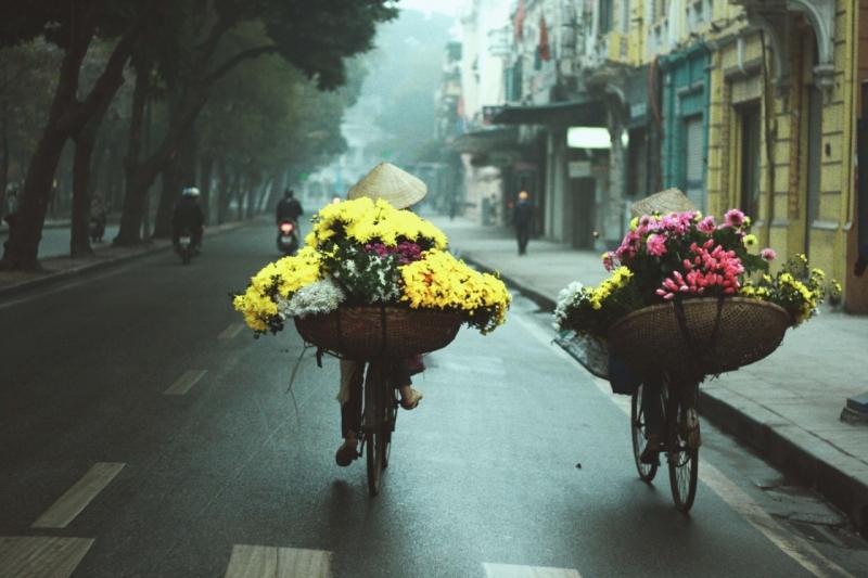 Gánh hàng hoa mùa đông
