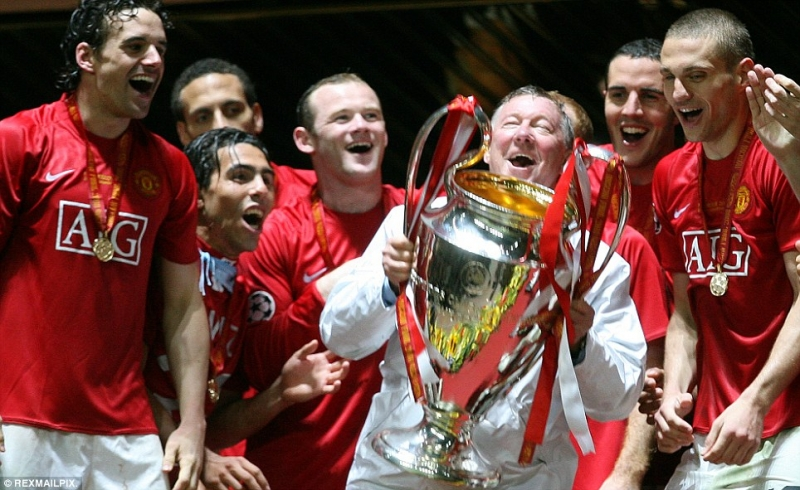 Rooney cùng MU vô địch C1 năm 2008