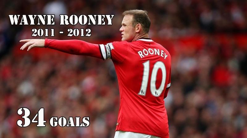 Mùa giải bùng nổ của Rooney với 34 bàn thắng