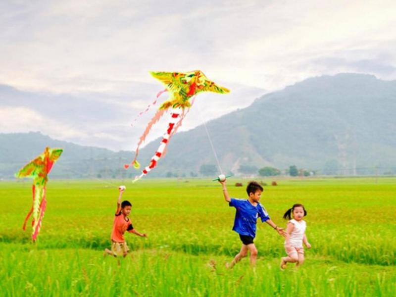 Mùa hè là thời gian vui chơi của những đứa trẻ
