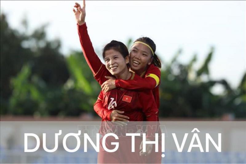 Nữ cầu thủ Dương Thị Vân