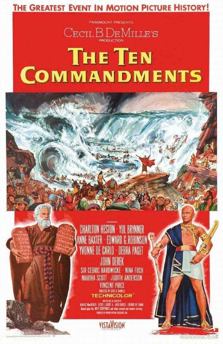 Poster Mười điều răn của Chúa năm 1956